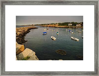 Rockport Gold Framed Print