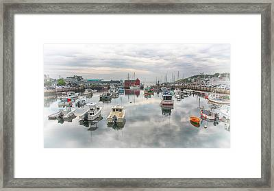 Rockport Harbor And Motif 1 Framed Print by Stephen Stookey