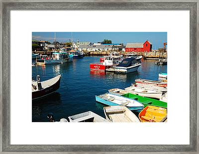 Rockport Harbor Framed Print by James Kirkikis