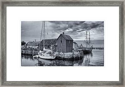 Rockport Harbor Lobster Shack Framed Print by Stephen Stookey