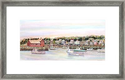 Rockport Harbor Ma Framed Print by Pamela Parsons