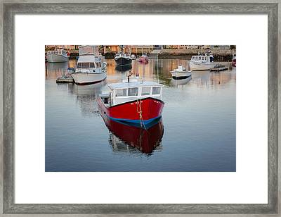 Rockport Harbor Marina Framed Print