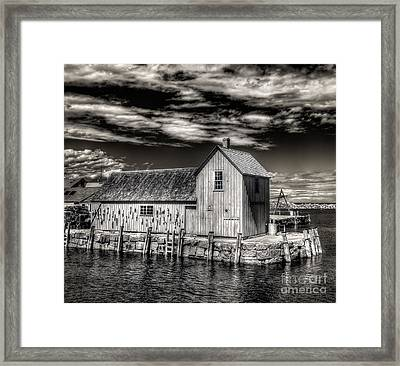 Framed Print featuring the photograph Rockport Harbor by Steve Zimic
