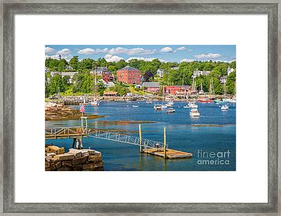 Rockport  Harbor Framed Print by Susan Cole Kelly