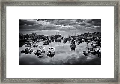 Rockport Harbor View - Bw Framed Print