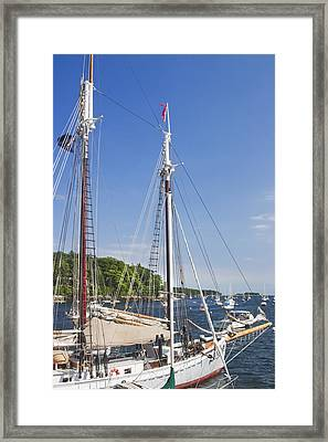 Rockport Maine Boats And Harbor Framed Print by Keith Webber Jr