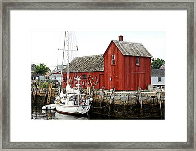 Rockport - Motif Number 1 Framed Print by Stephen Stookey