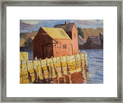 Rockport Motif Number One Framed Print by Peggy Poppe