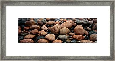 Rocks Acadia National Park Me Usa Framed Print by Panoramic Images
