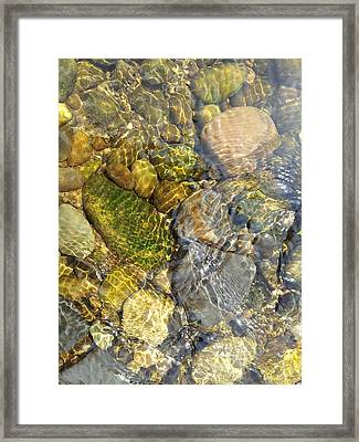 Rocks And Pebbles 3 Framed Print by David Stribbling