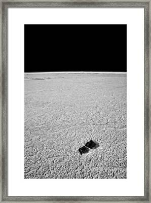 Rocks And Salt Framed Print by Guillermo Hakim