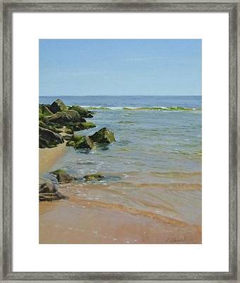 Rocks And Shallows Framed Print