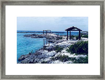 Rocks And Water Always Together Framed Print by Mario Perez