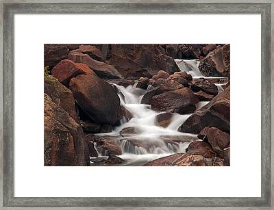 Rocks And Water Framed Print
