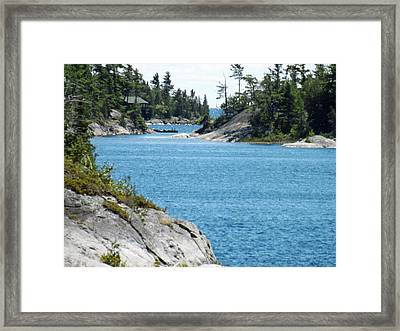 Rocks And Water Paradise Framed Print by Brenda Brown