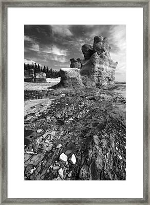 Framed Print featuring the photograph Rocks by Arkady Kunysz