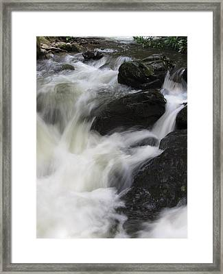 Framed Print featuring the photograph Rocks At Bushkill by Richard Reeve
