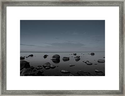 Rocks At Midnight Framed Print