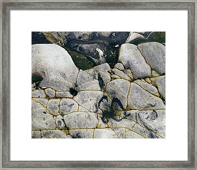Rocks At Point Lobos C2014 Framed Print