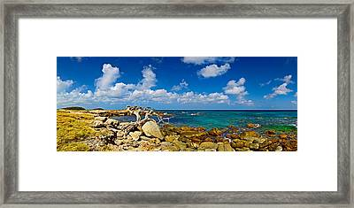 Rocks At The Coast, Aruba Framed Print by Panoramic Images