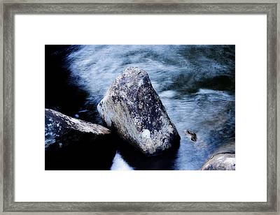 Rocks At The Falls Framed Print by Adam LeCroy