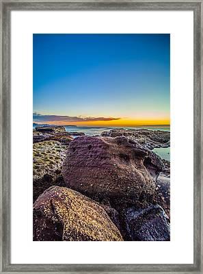 Rocks By The Sea 2 Framed Print by Dasmin Niriella