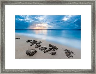 Rocks By The Sea Framed Print by Mihai Andritoiu