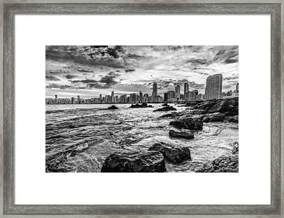 Rocks By The Sea Framed Print by Jose Maciel