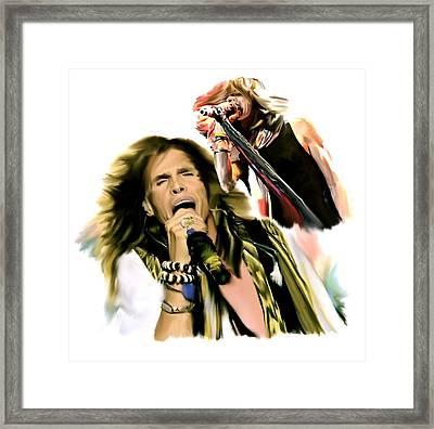 Rocks Gothic Lion II  Steven Tyler Framed Print
