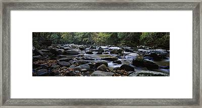 Rocks In A River, Great Smoky Mountains Framed Print by Panoramic Images
