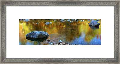 Rocks In A Shallow Stream Framed Print by Panoramic Images