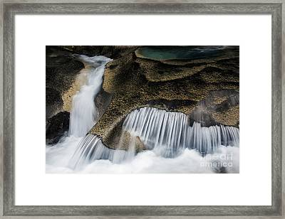Rocks In Paradise Framed Print by Inge Johnsson