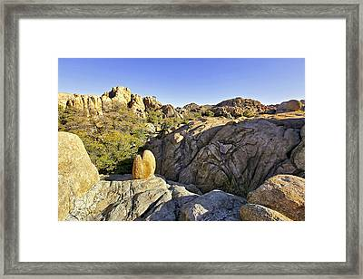 Framed Print featuring the photograph Rocks In Prescott Arizona by James Steele