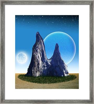 Rocks In The Desert Framed Print by Piero Lucia