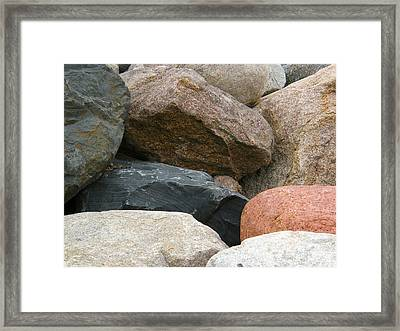 Rocks In Various Colors Framed Print