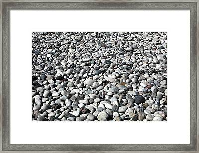 Rocks Of The Greek Framed Print by John Rizzuto
