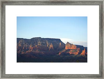 Rocks On Fire Framed Print