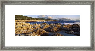 Rocks On The Beach, Alaties Beach Framed Print