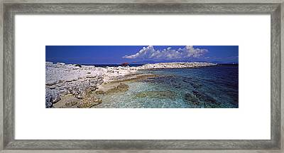 Rocks On The Beach, Dafnoudi Beach Framed Print