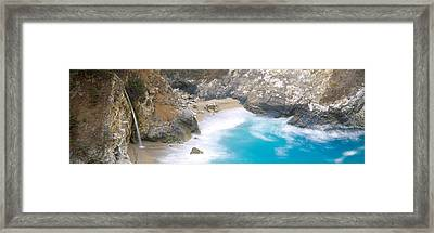 Rocks On The Beach, Mcway Falls, Julia Framed Print by Panoramic Images