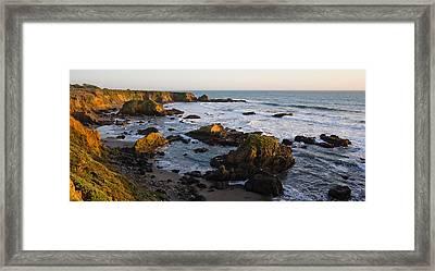 Rocks On The Coast, Cambria, San Luis Framed Print