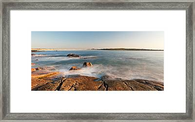 Rocks On The Coast, Dogs Bay Framed Print by Panoramic Images