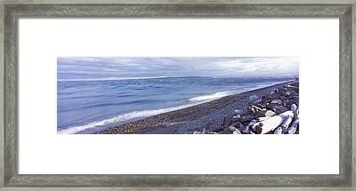 Rocks On The Coast, Fort Casey State Framed Print by Panoramic Images