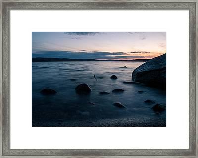 Rocks At A Shore Framed Print by Janne Mankinen