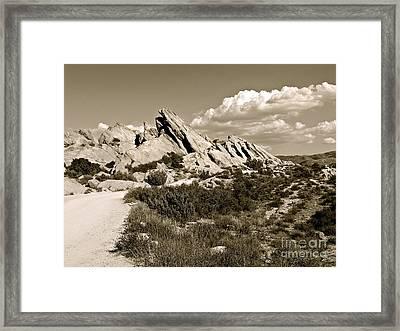 Rocks On Warm Wind Framed Print