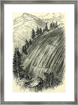 Rocks Polished By Old Glaciers Switzerland Framed Print by Swiss School