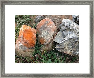 Rocks Framed Print by Ron Torborg