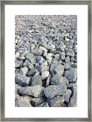 Rocks Framed Print by Roque Rodriguez
