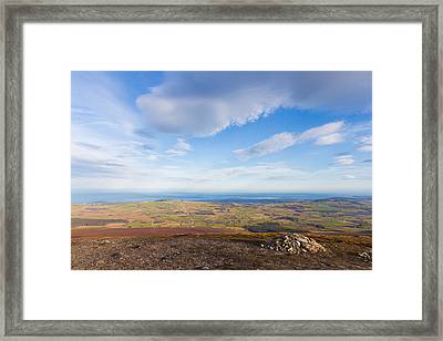 Rocks Stacked Up On Djouce Mountain Summit Framed Print by Semmick Photo