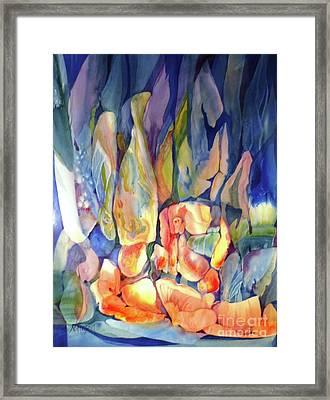 Rocks Under Water Framed Print by Donna Acheson-Juillet